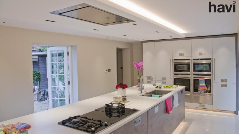 Electrical Project For Private Residence Modern kitchen Lighting LED Scheme - Havi Electrical