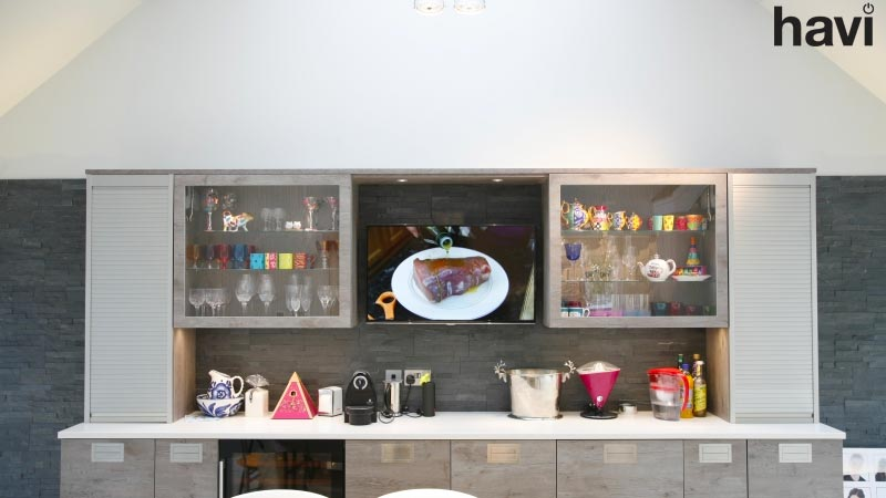 Electrical Project For Private Residence – Modern kitchen Lighting Scheme AV System