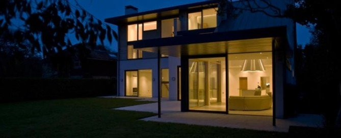 Electrical smart home installation service hampshire lighting exterior front of house- Havi Electrical