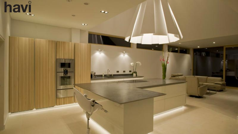 Electrical smart home installation service hampshire the kitchen night - Havi Electrical